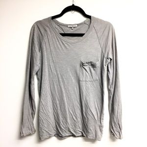 JAMES PERSE Double Layered Long Sleeve Crew Neck